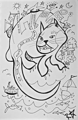 Tamaki Makaurau Auckland is a Cat by Raewyn Alexander
